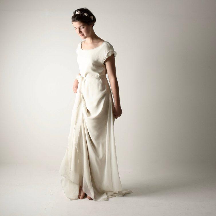 Althea ~ Long tunic wedding dress