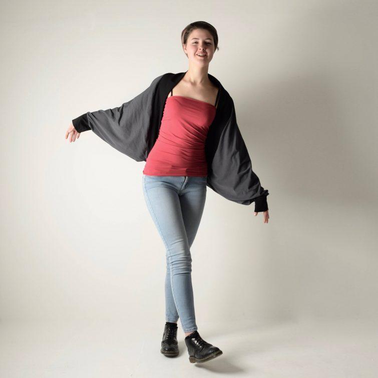 Oversize draped cardigan