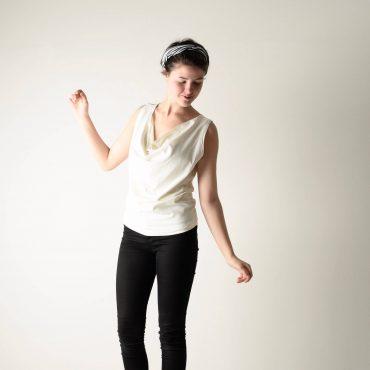 Sleeveless Draped blouse
