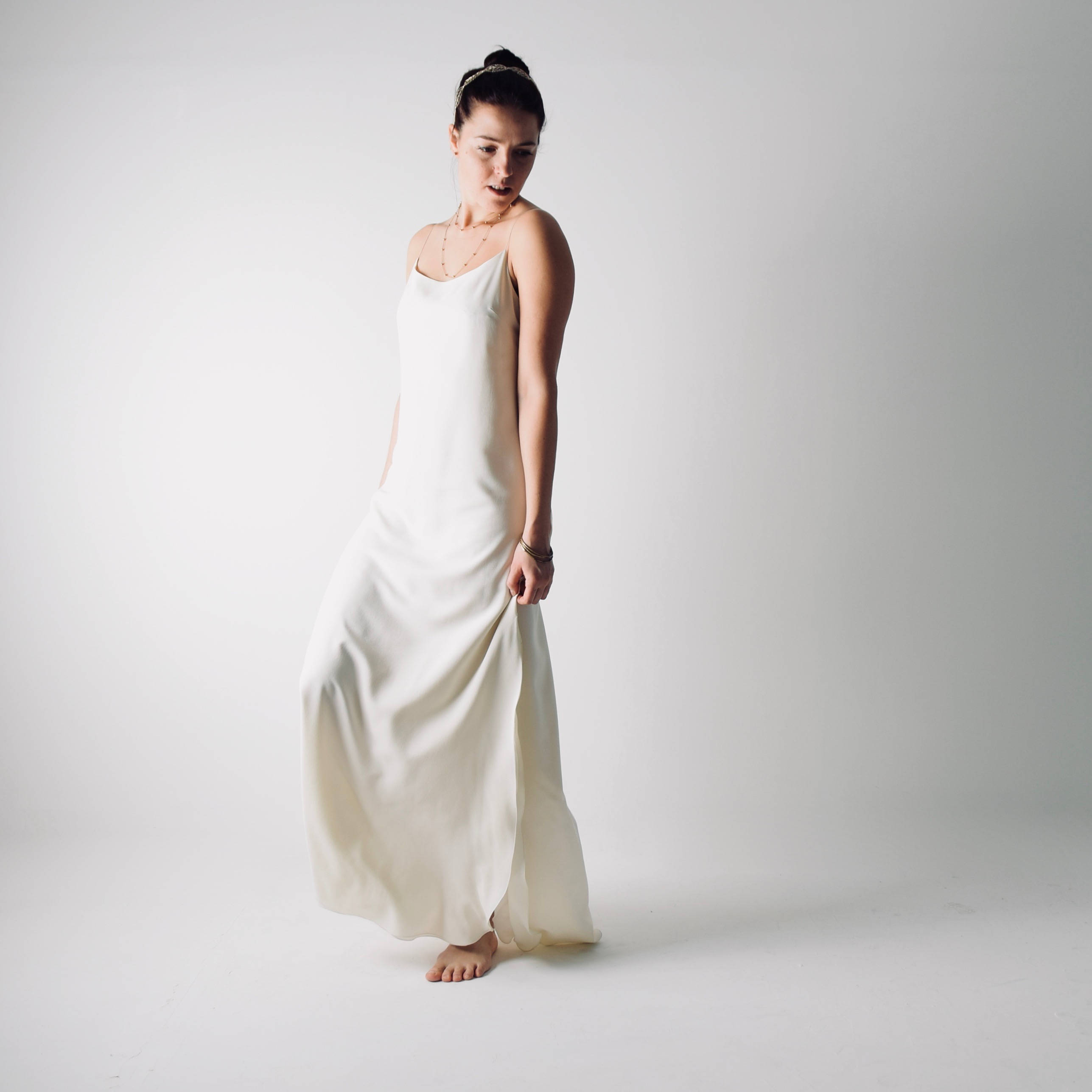 126aa136f375c Saponaria ~ Simple Slip wedding dress ~ Silk bridal gown by Larimeloom
