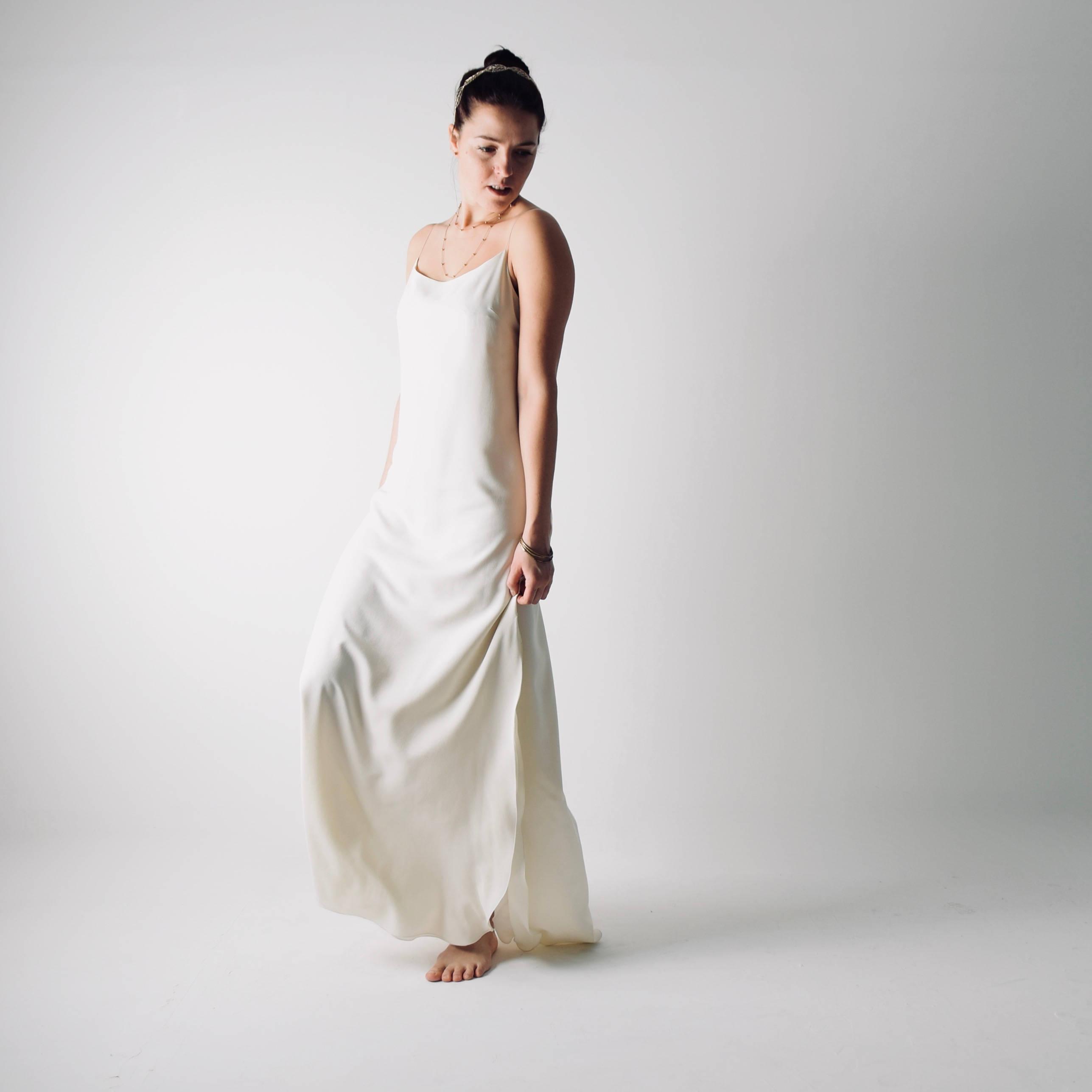 Slip Wedding Dress Silk Bridal Gown
