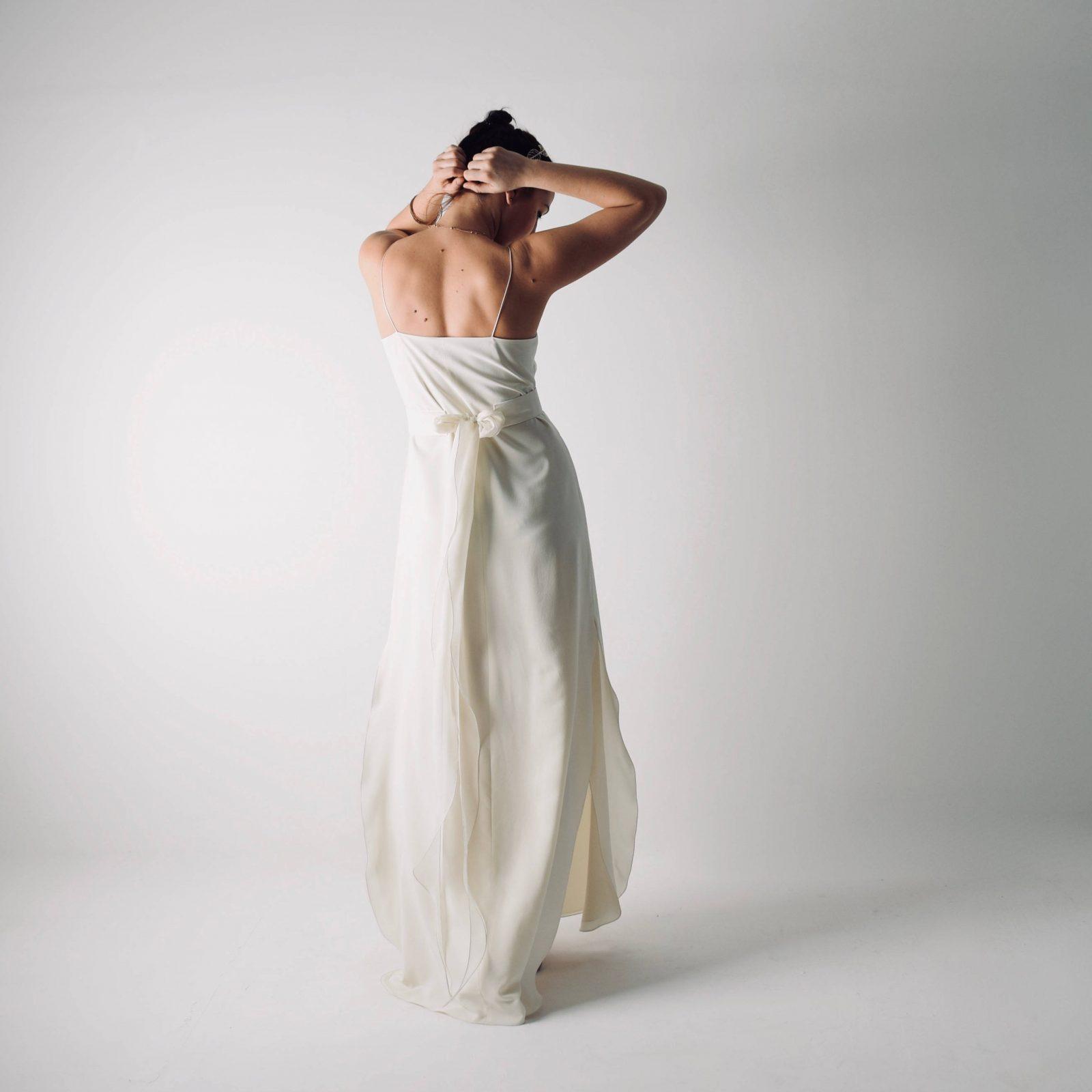 5a90908f85894 Saponaria ~ Simple Slip wedding dress ~ Silk bridal gown by Larimeloom