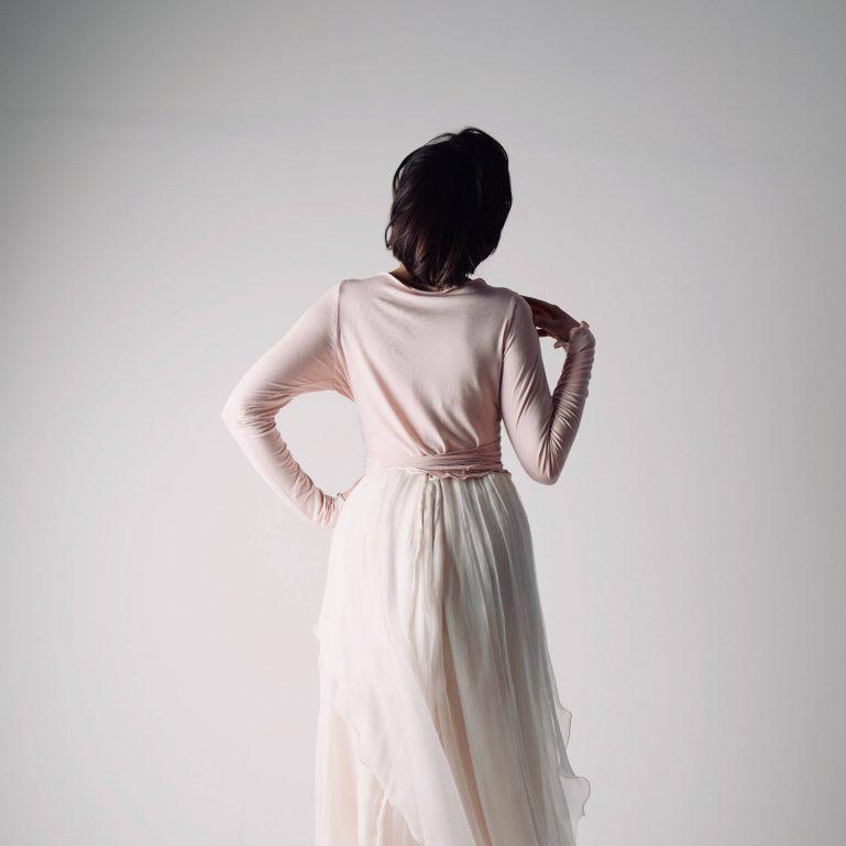 Long sleeved wrap cardigan