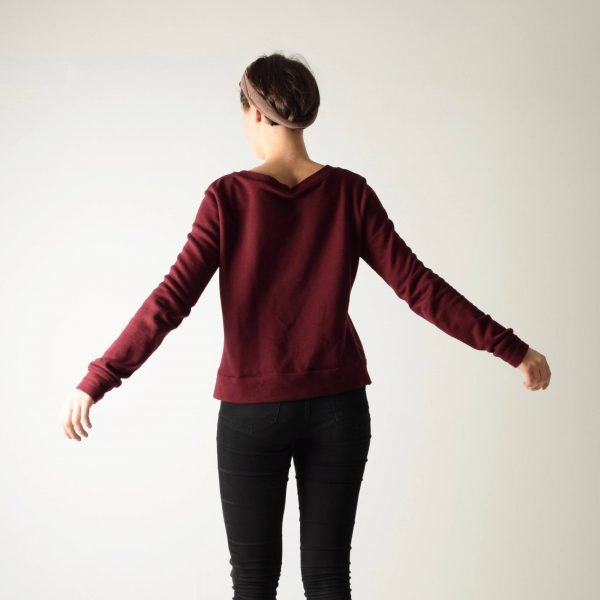 Wine red Cotton jumper