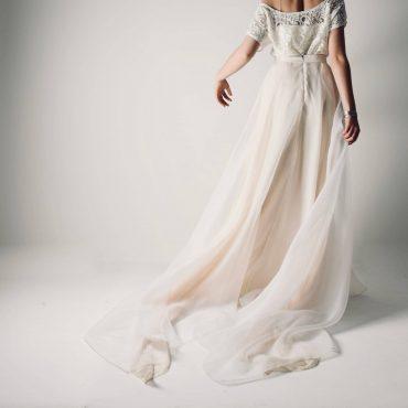 Silk organza wedding skirt ~ Bridal separates by Larimeloom