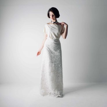Foxglove ~ Lace and silk bridal separates ~ Wedding dress by Larimeloom