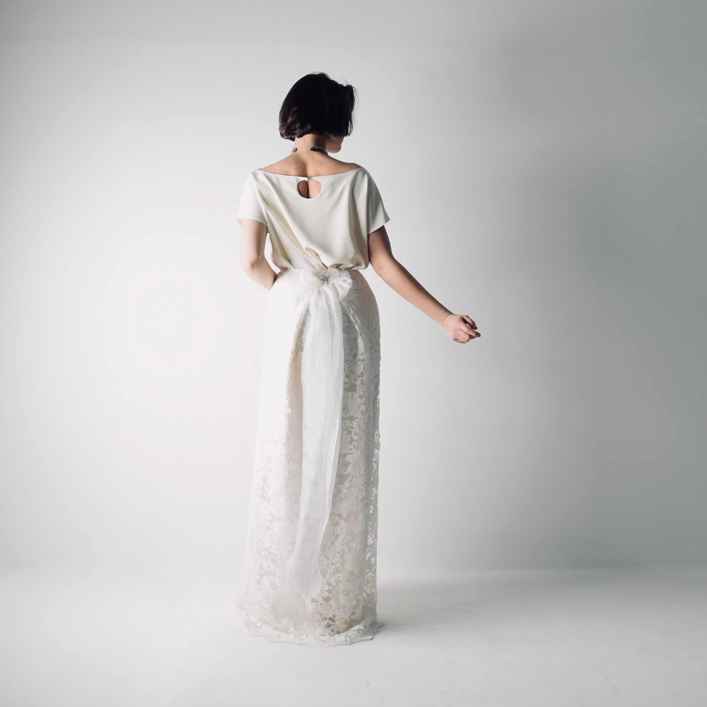 Bridal Separates: Boho Lace Bridal Separates ~ Wedding Dress