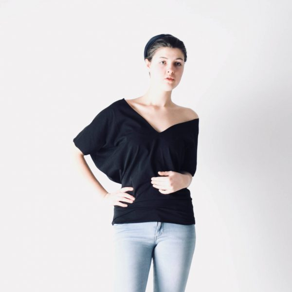 Batwing V-neck Top