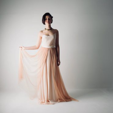Abelia ~ Blush wedding dress separates ~ Tulle skirt and top