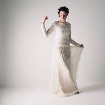 Hippie Wedding Dresses.Verbena Hippie Wedding Dress With Sleeves