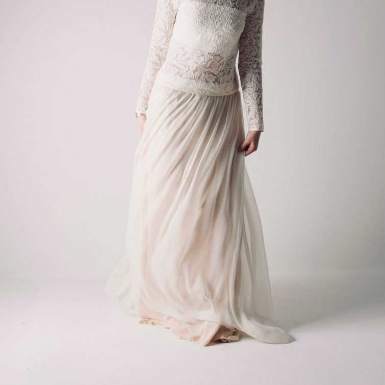 Anemone ~ Chiffon Wedding Skirt low waist