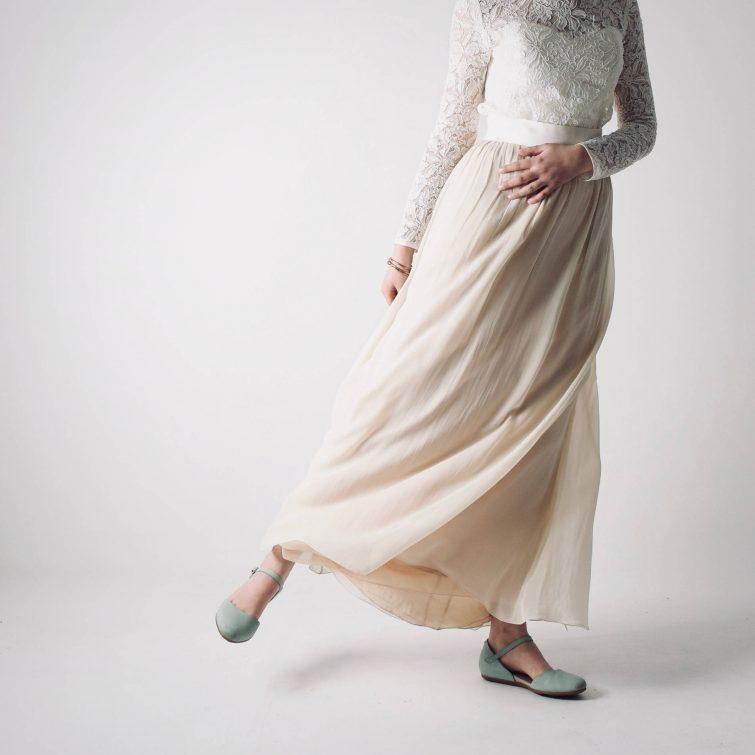 Anemone ~ Chiffon Wedding Skirt high waist