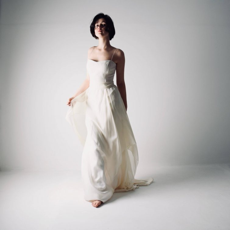 Agapanthus ~ Hemp Corset Wedding dress by Larimeloom