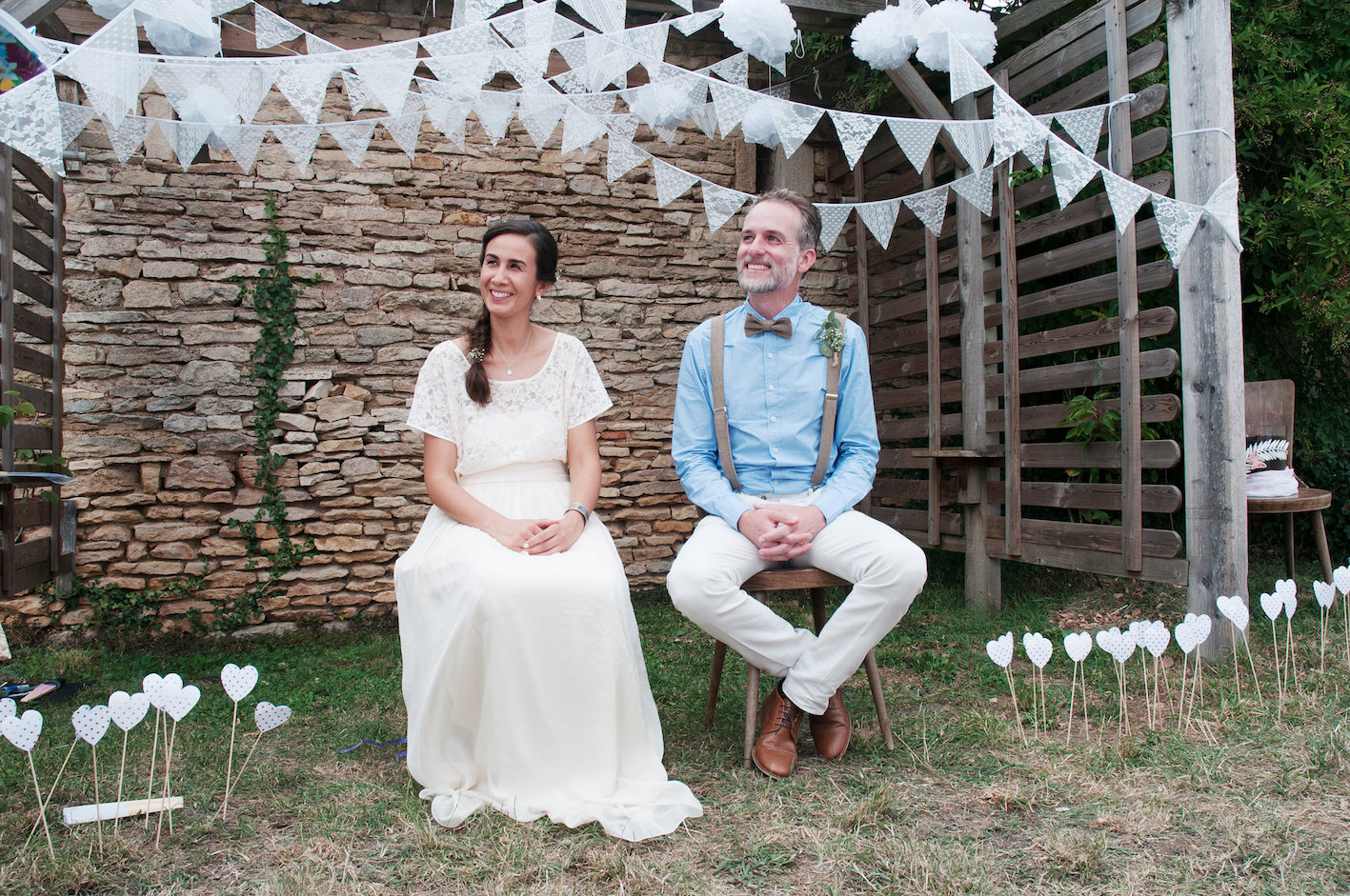 Nadia's simple outdoors wedding ~ Larimeloom bridal separates