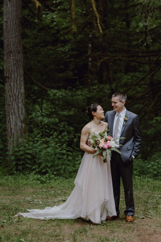 Priscilla's blush fairy wedding dress
