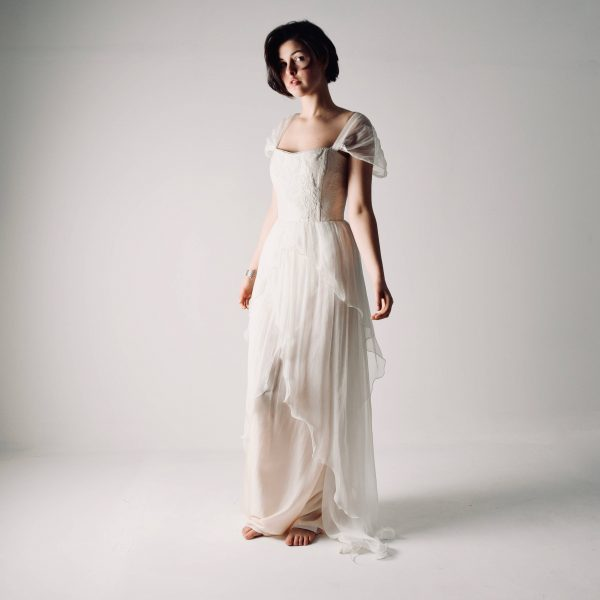 Layered Chiffon Wedding Dress