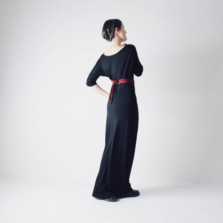 Long black maxi dress - Larimeloom Italian Handmade Clothing