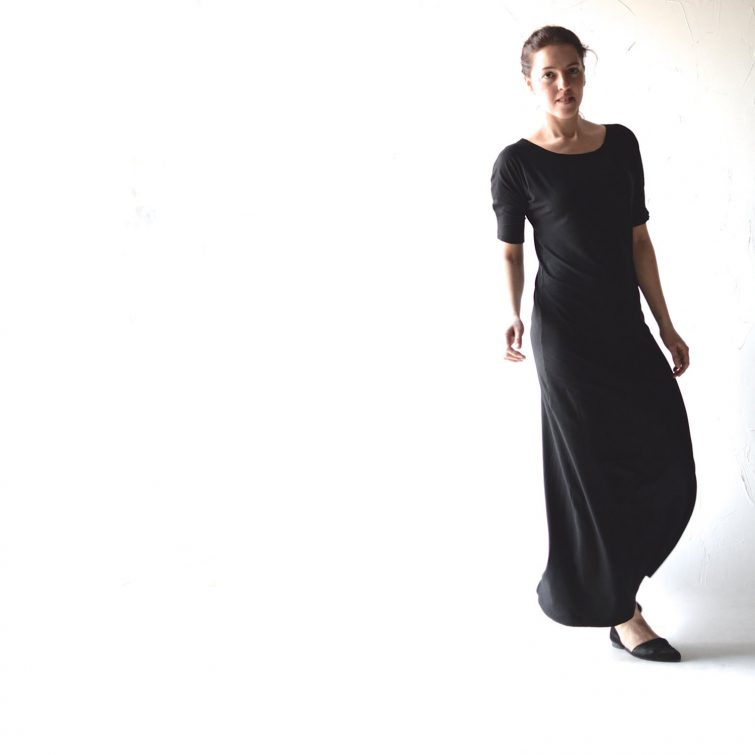 Long black maxi dress - Larimeloom Italian Handmade Clothing