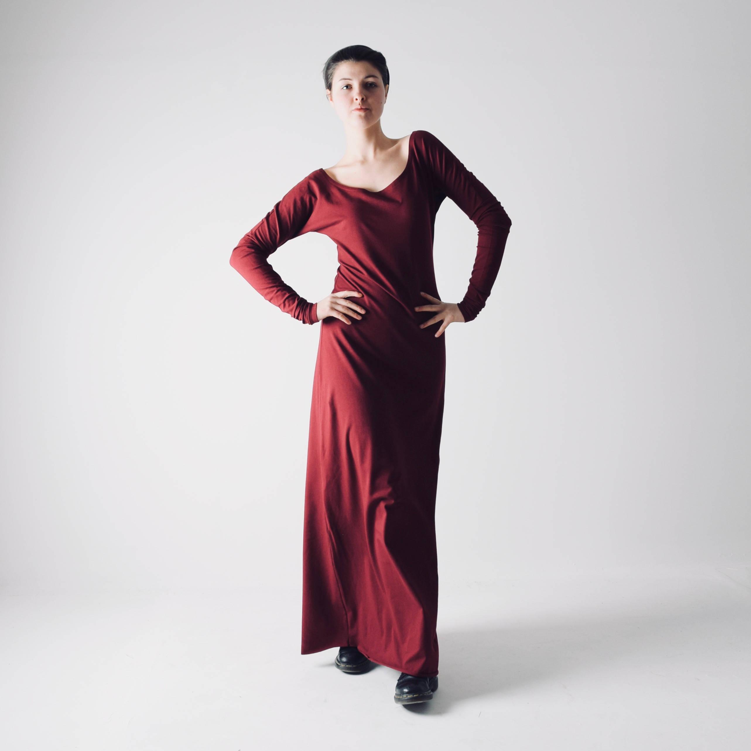 Sleeve Maxi Dress Simple Dress By Larimeloom