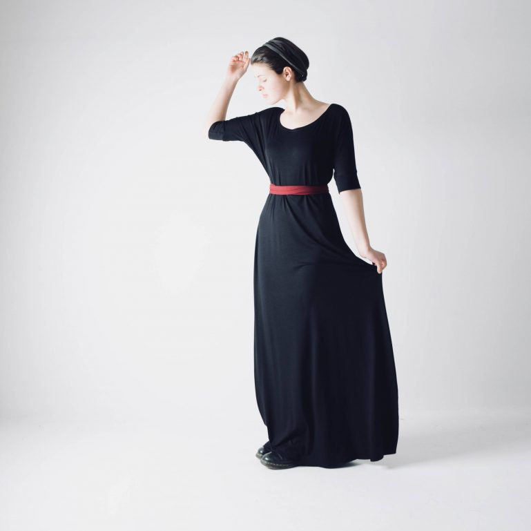 Long sleeve Maxi dress ~ Simple dress by Larimeloom