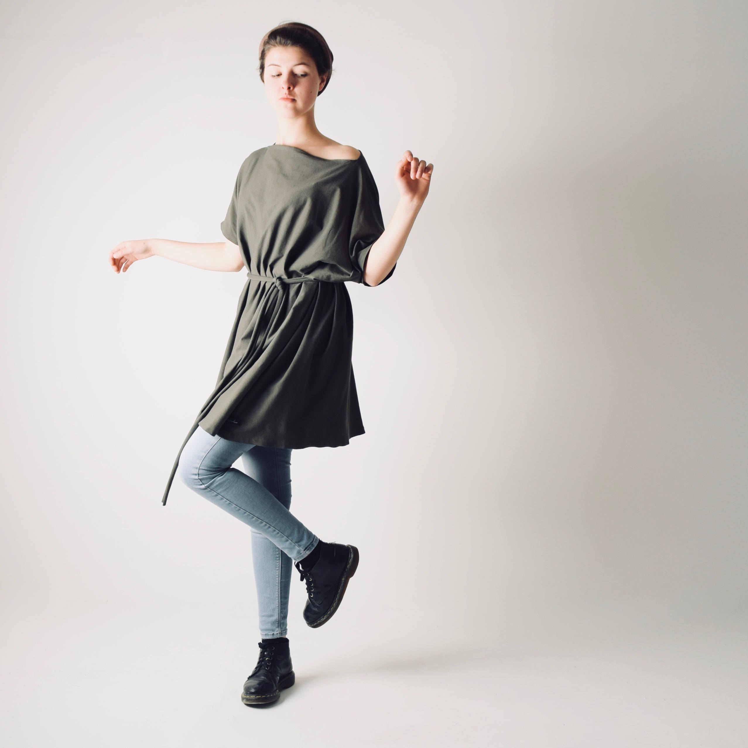 Oversize Loose Sweater dress ~ Long tshirt dress by Larimeloom