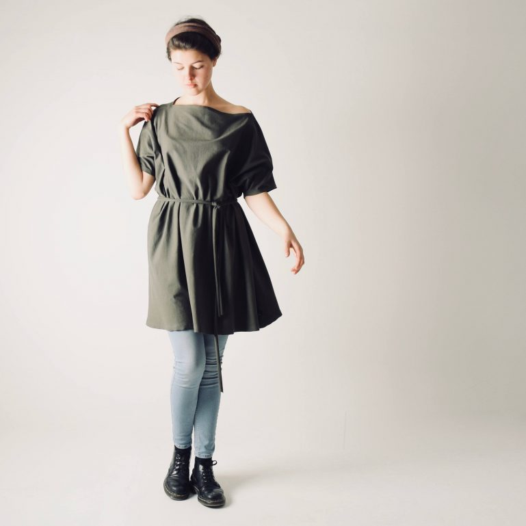 Oversize Loose Sweater dress ~ Long tshirt dress by Larimeloom