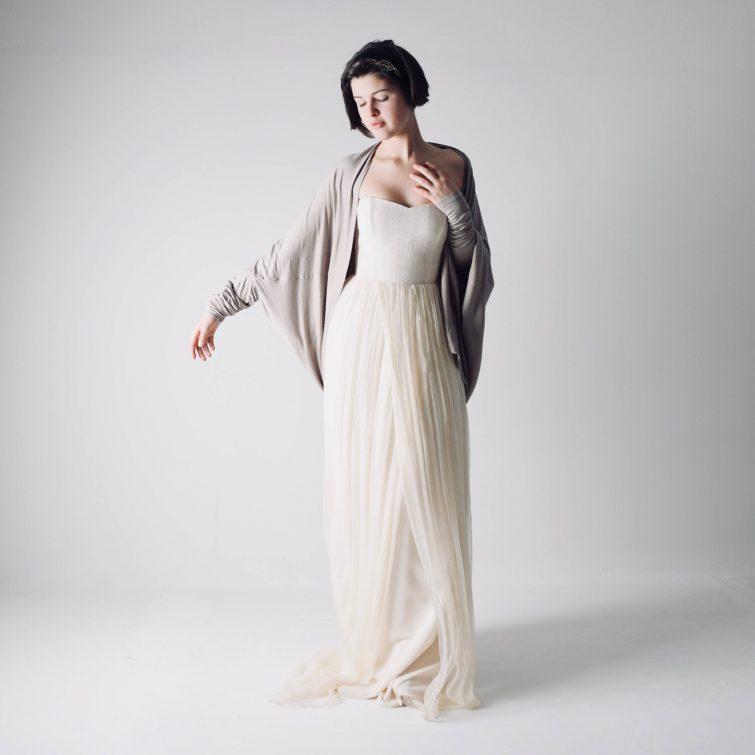 Oversized Wedding Cardigan - Larimeloom Handmade Clothing