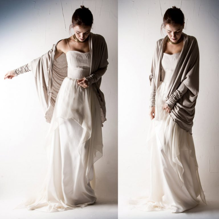 Oversized Wedding Cardigan - Larimeloom Handmade Clothing