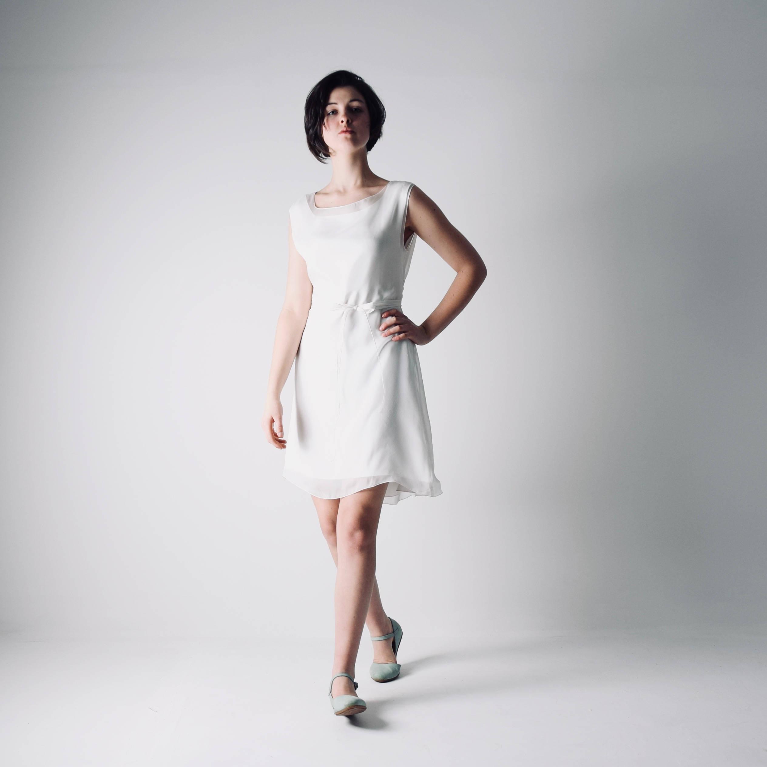 Short Tunic Wedding Dress - Larimeloom Handmade Clothing
