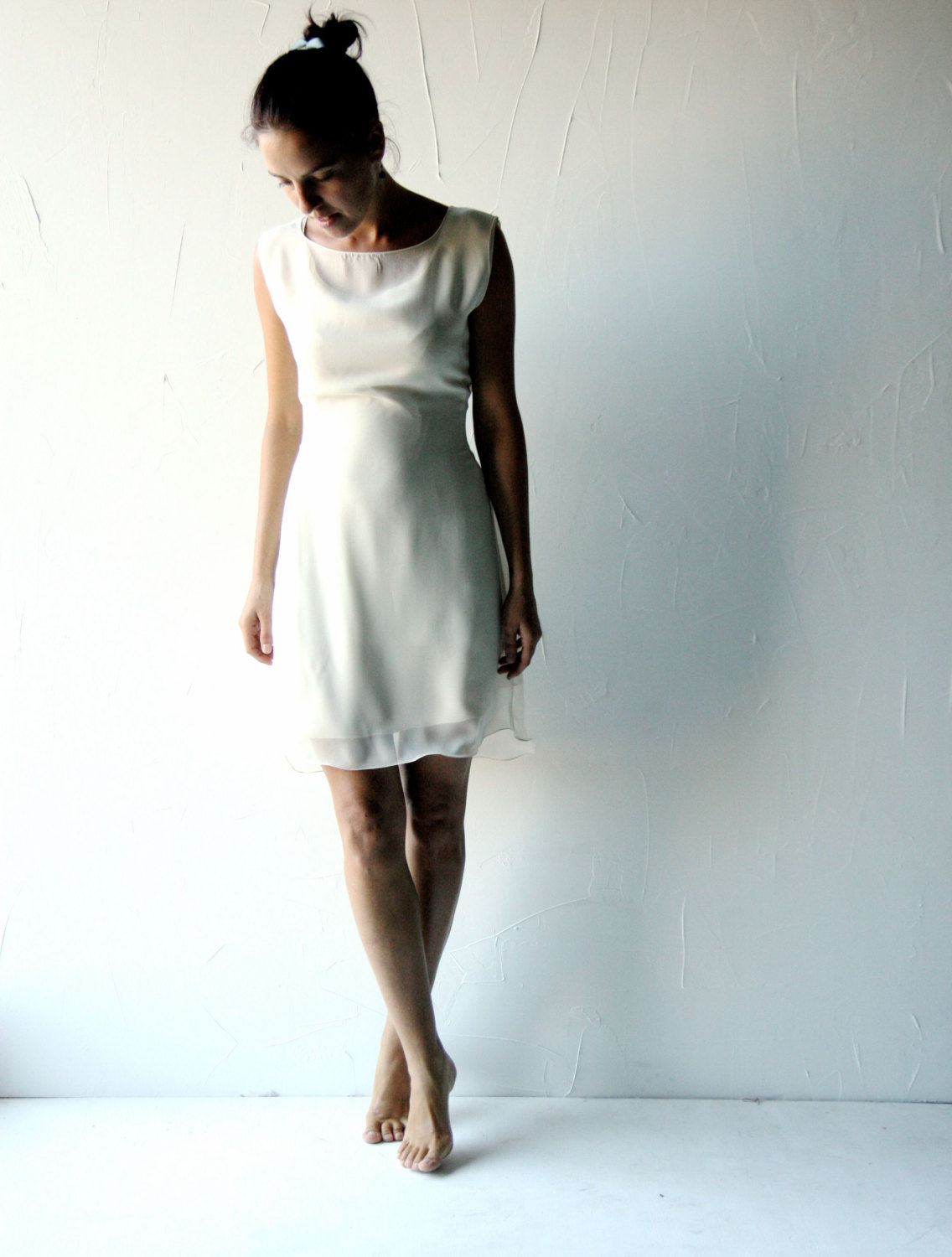 Lisianthus ~ Short tunic Wedding Dress