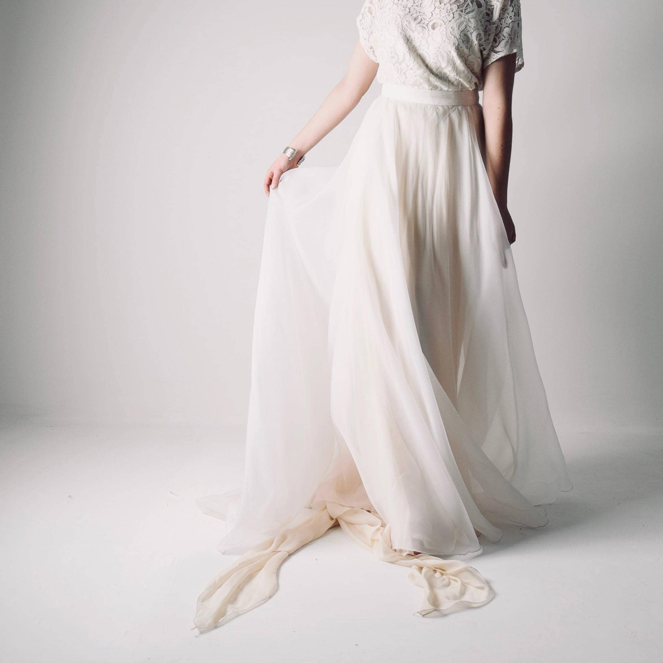 Silk Organza Wedding Skirt Bridal Separates By Larimeloom