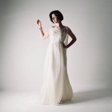 Kaftan slip wedding dress ~ Unstructured silk gown by Larimeloom