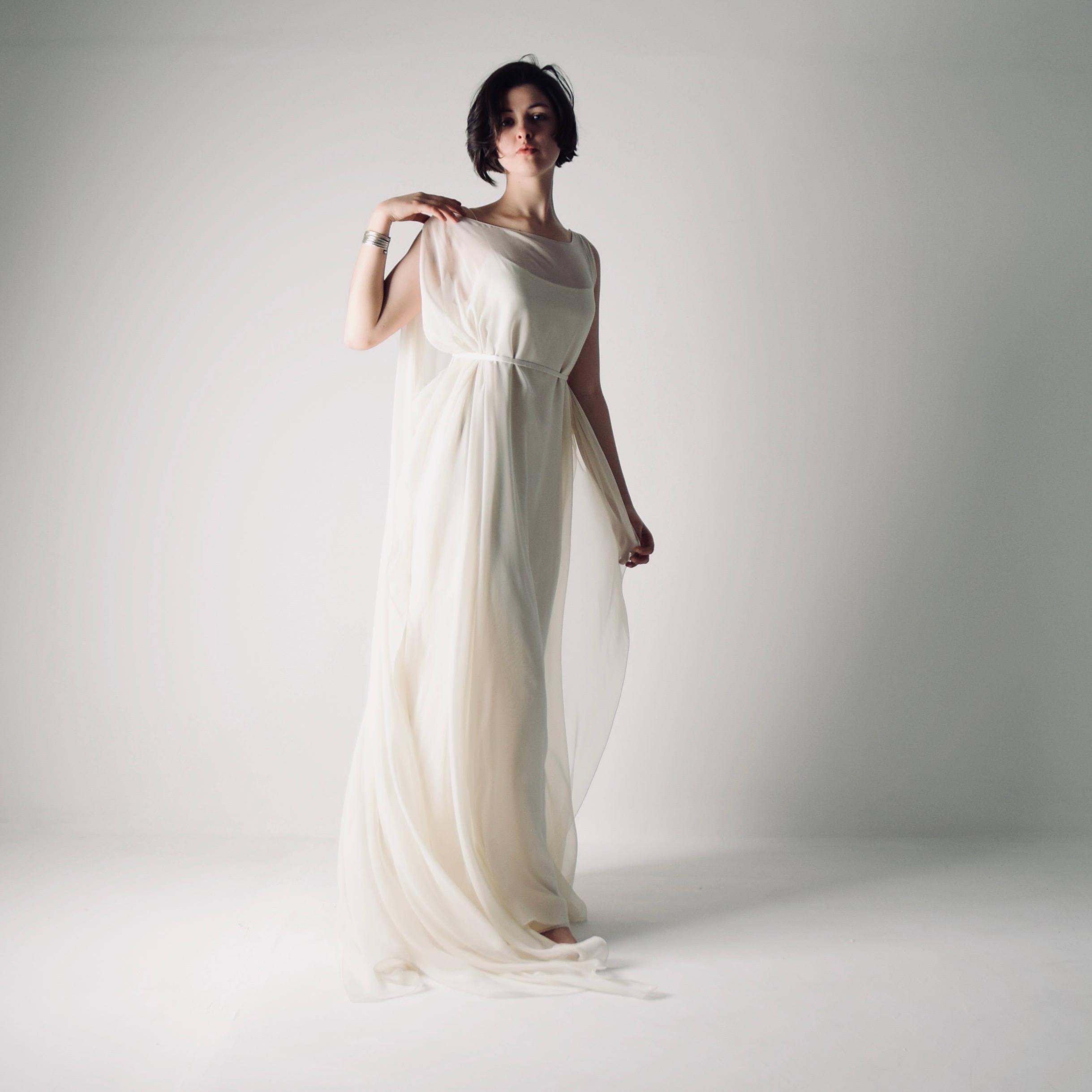 Simple Wedding Dress Hippie: Unstructured Silk Gown By