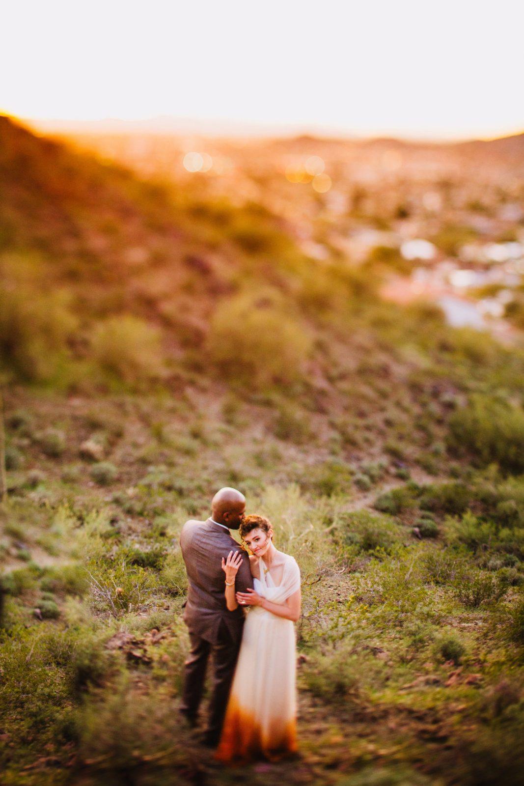Bridal styled shoot in the Arizona desert ~ Orange Dip dye wedding dress Bridal styled shoot in the Arizona desert ~ Orange Dip dye wedding dress