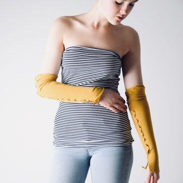 Long Fingerless Gloves ~ Handmade Wrist Warmers by Larimeloom
