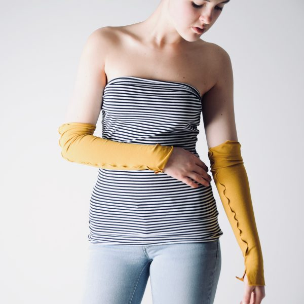 Long Fingerless Gloves ~ Handmade Wrist Warmers by Larimeloom
