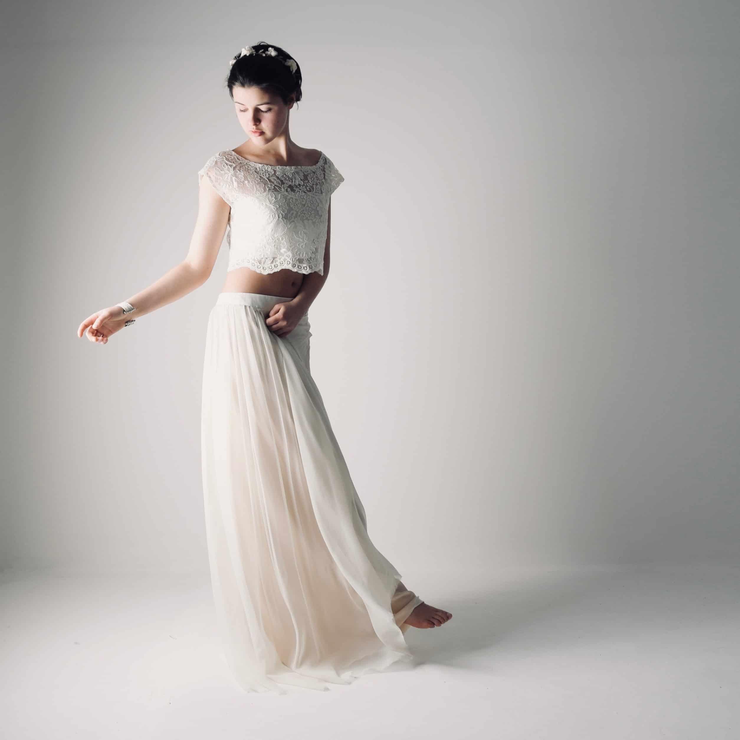Abiti Da Sposa Hippie 2018.Boho Wedding Dress Separates Hippie Bridal Outfit Larimeloom