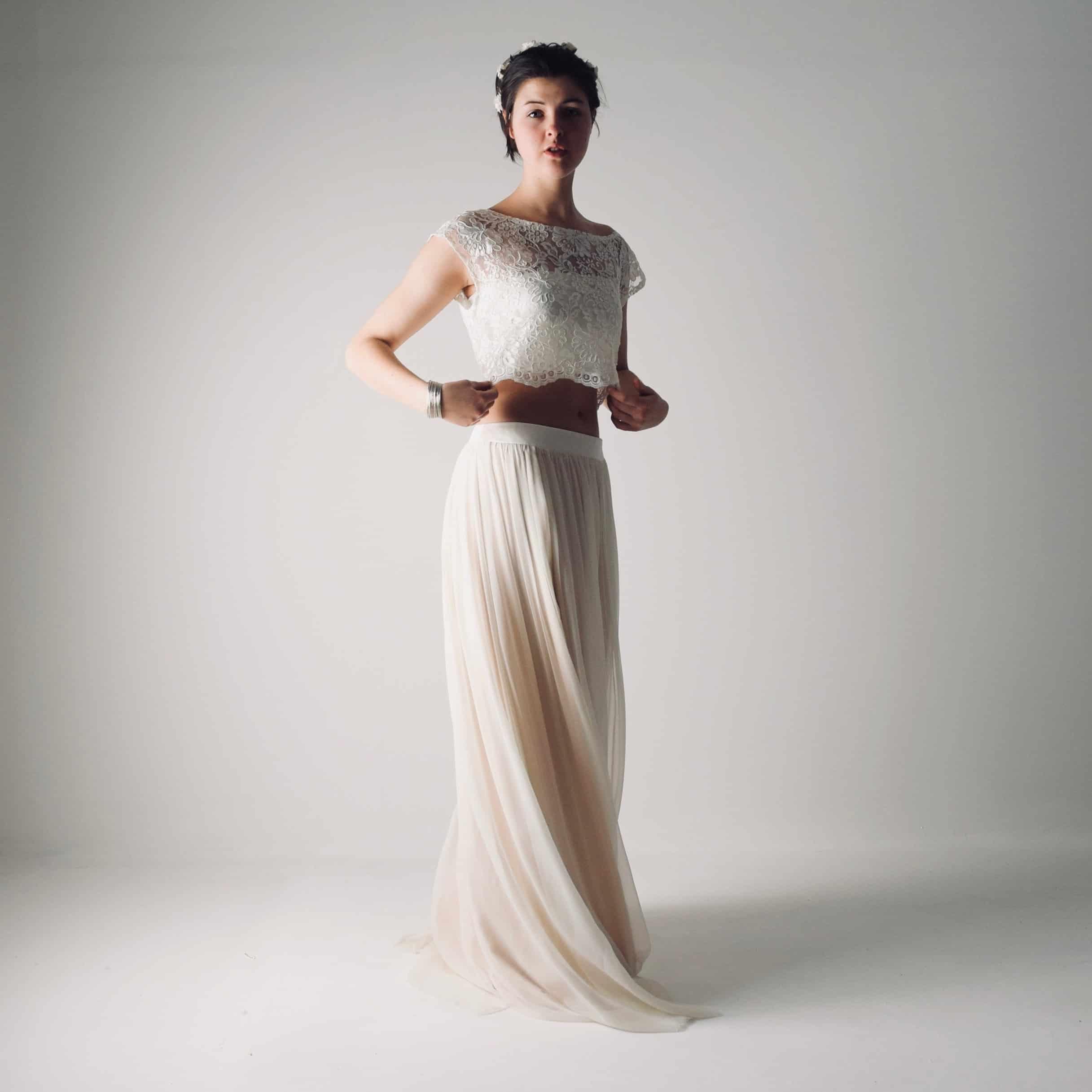 Abiti Cerimonia Hippie.Boho Wedding Dress Separates Hippie Bridal Outfit Larimeloom