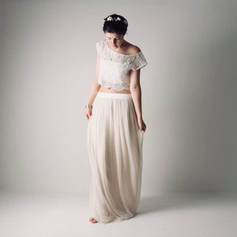 Fennel ~ Boho wedding dress separates ~ Hippie bridal outfit, Larimeloom