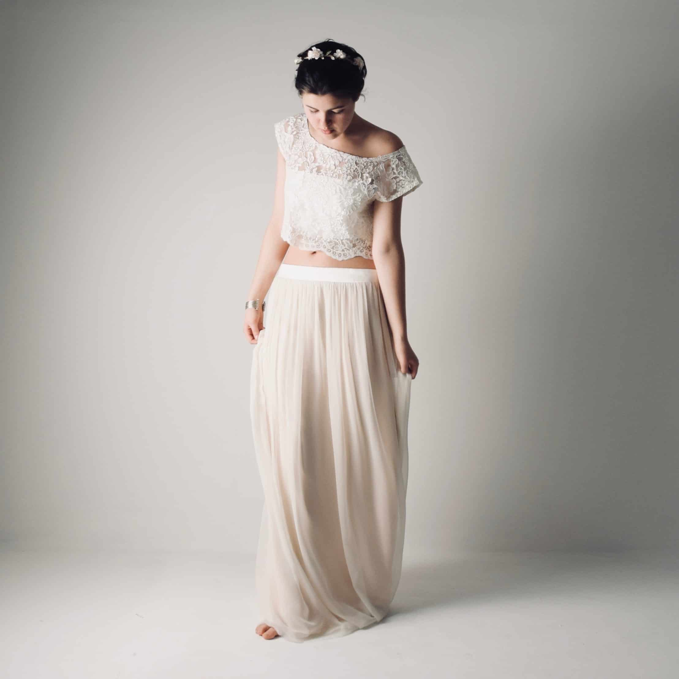 d63273816bda Fennel ~ Boho wedding dress separates ~ Hippie bridal outfit, Larimeloom