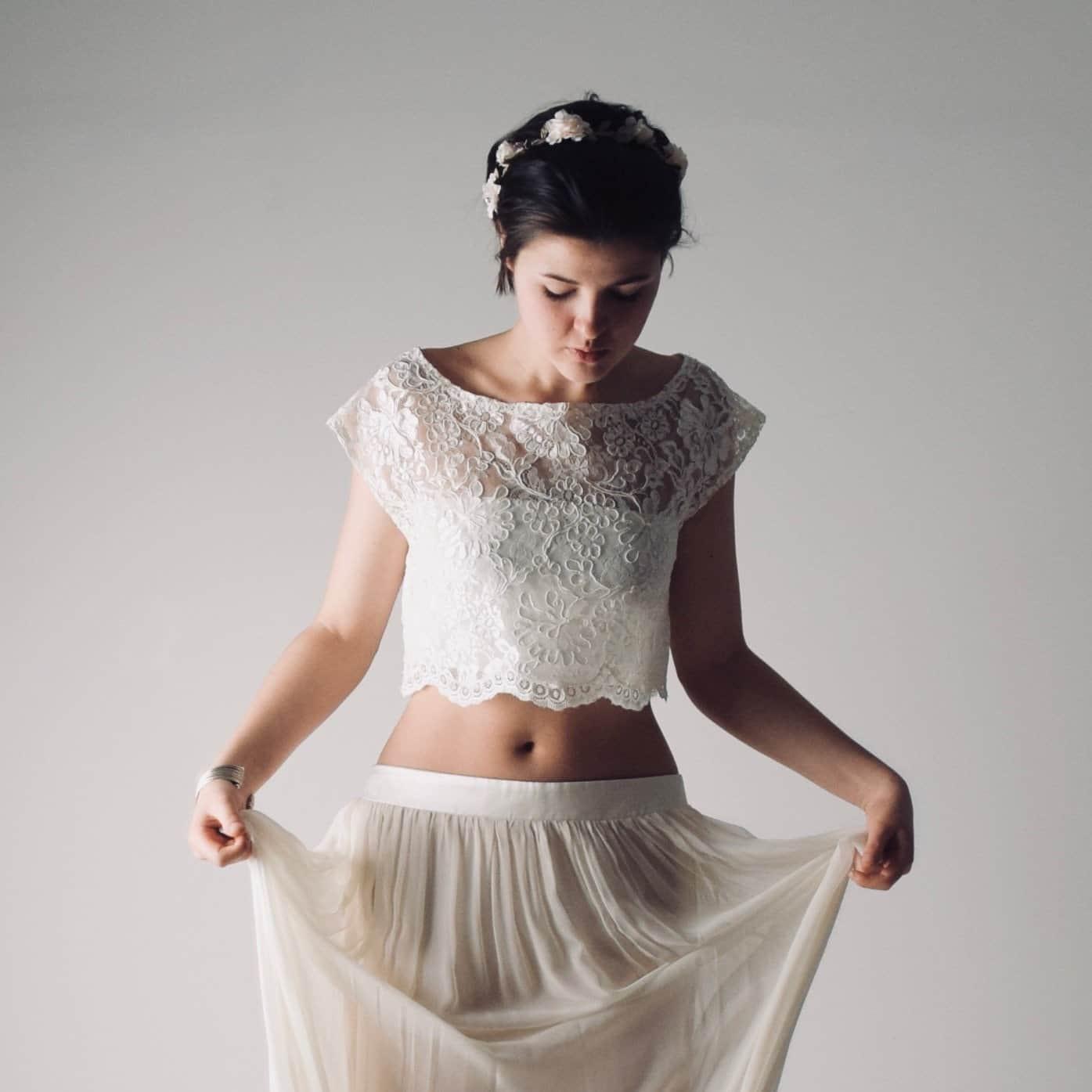 Boho abito sposa due pezzi
