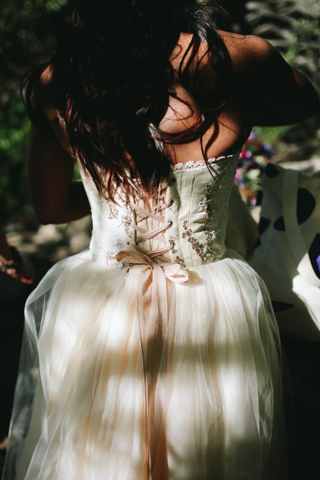 Custom Paeonia wedding dress by larimeloom