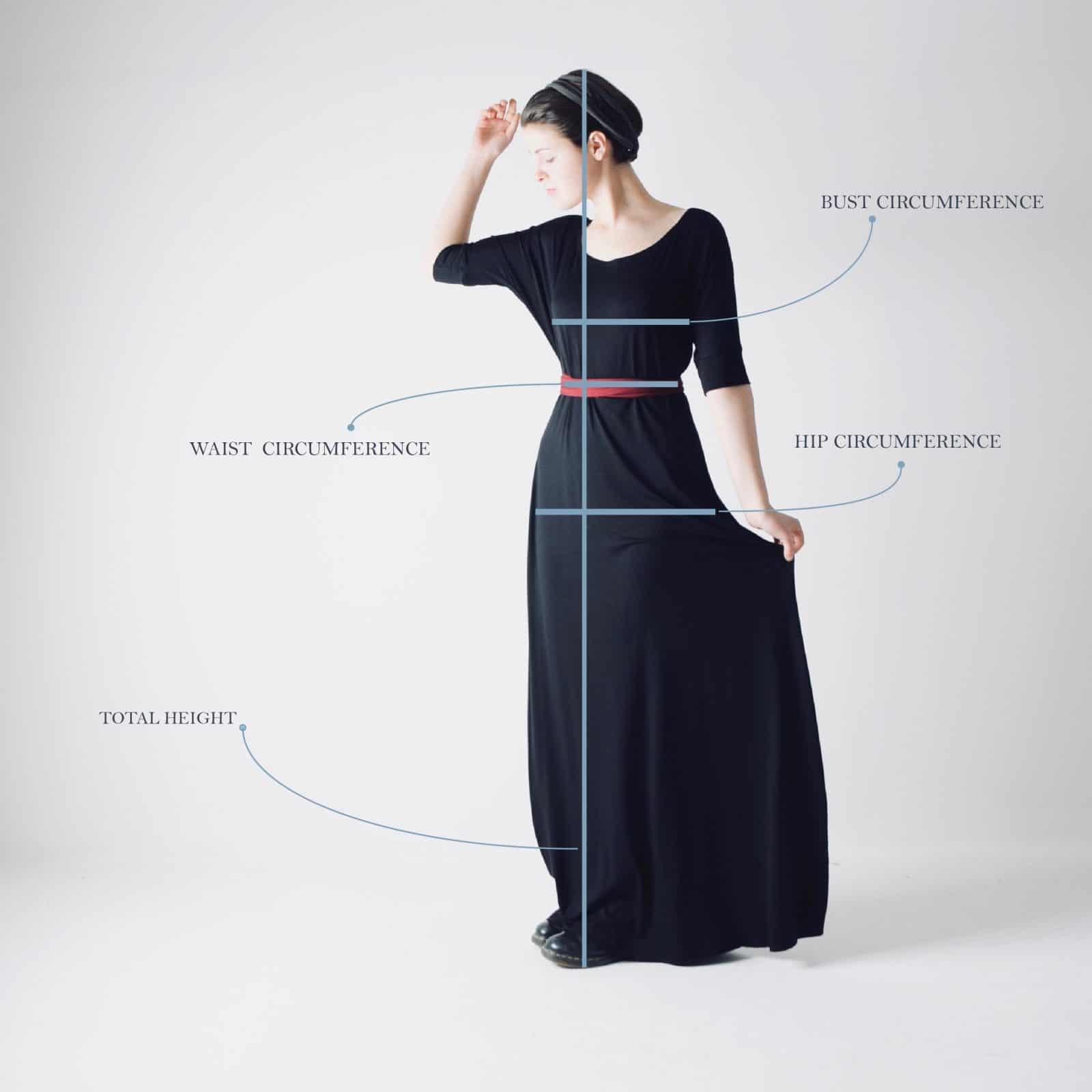 Bust-waist-hips-chart