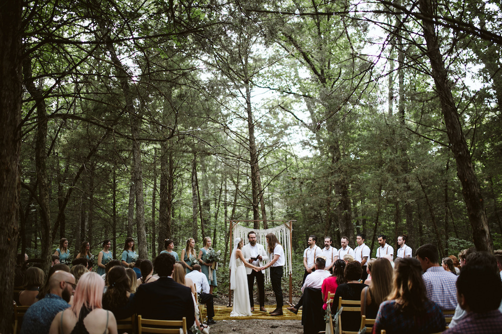 fairytale wedding in the woods