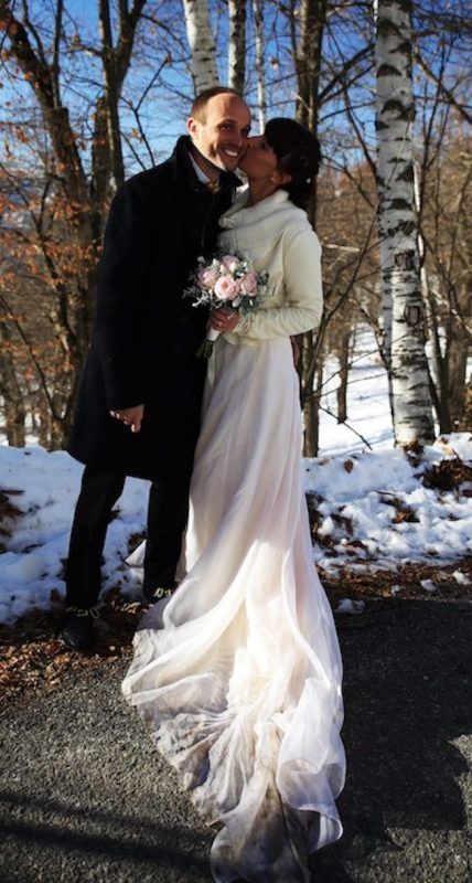 winter wedding dress wedding photos