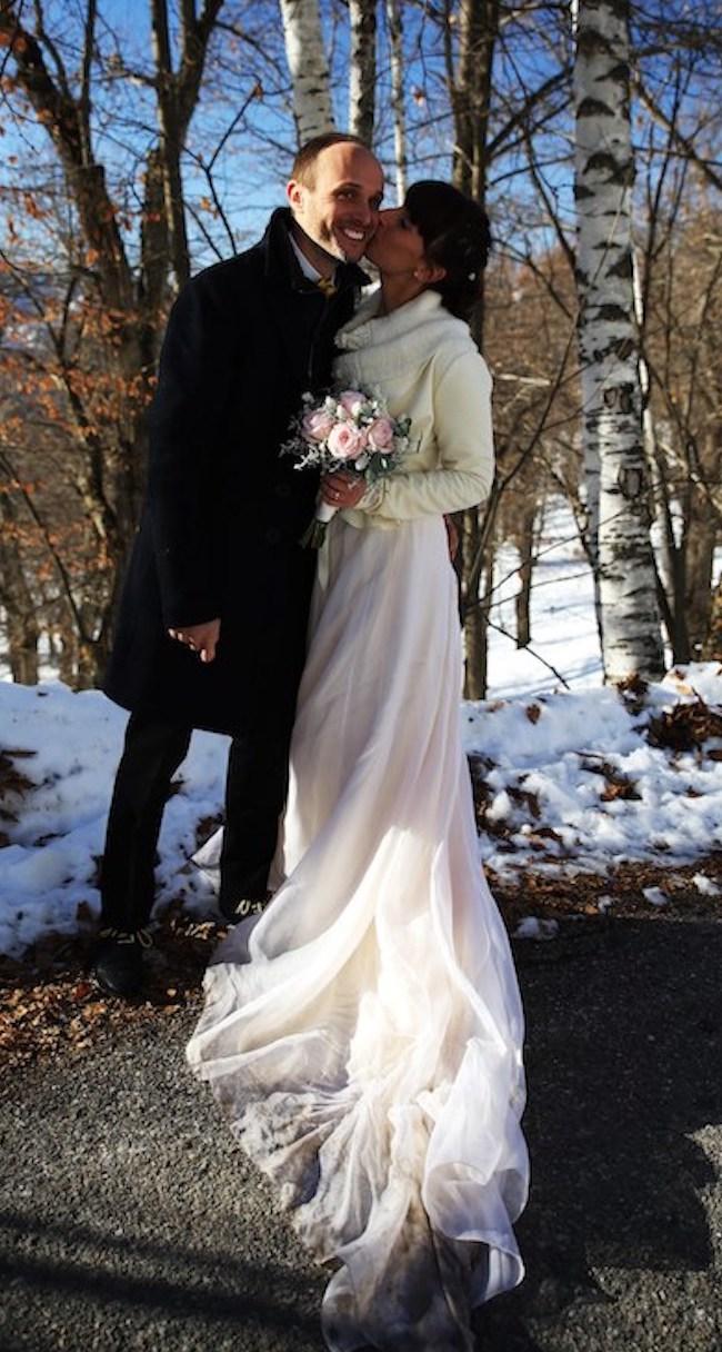 winter wedding dress wedding photos