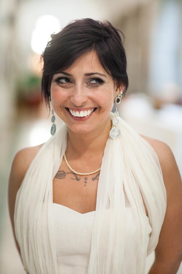 bohemian dip dyed wedding dress real wedding photos