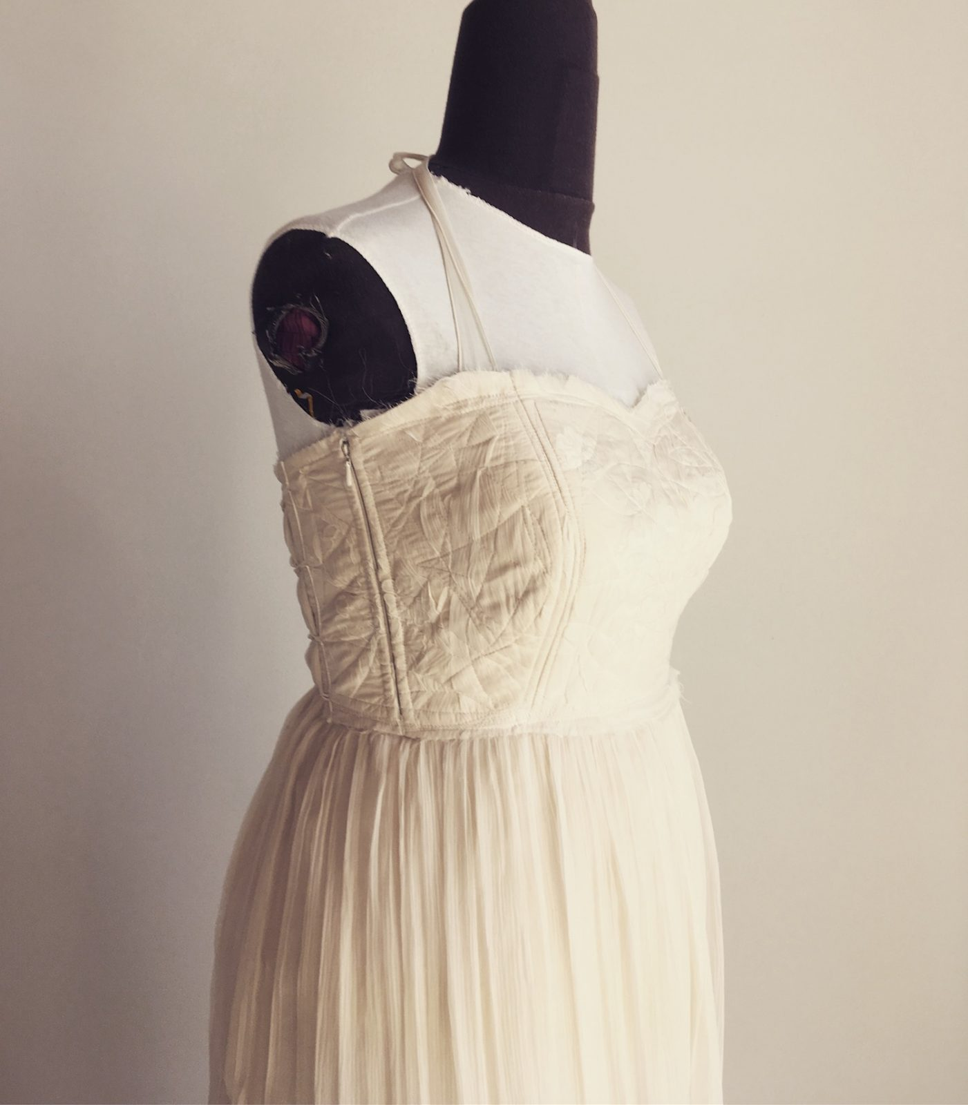 Boho Wedding dress for breasfeeding mother