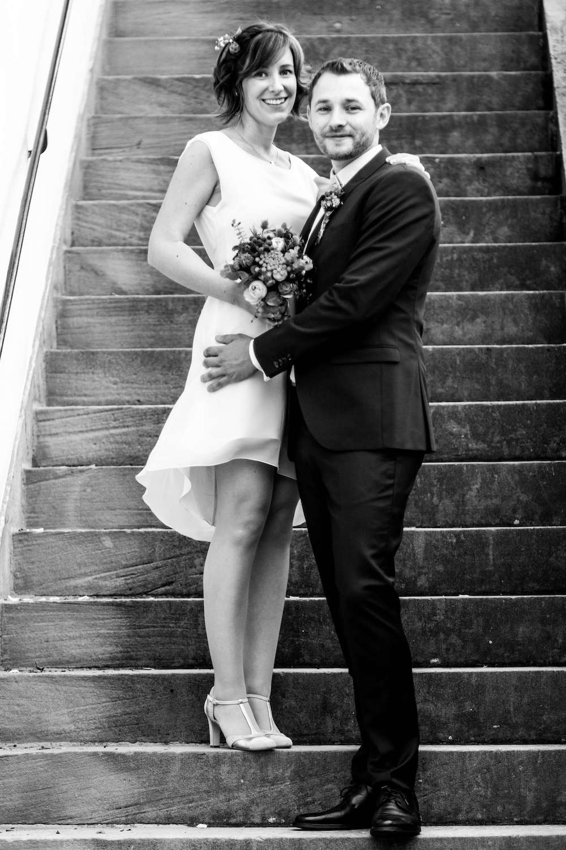 Simple sweet short wedding dress