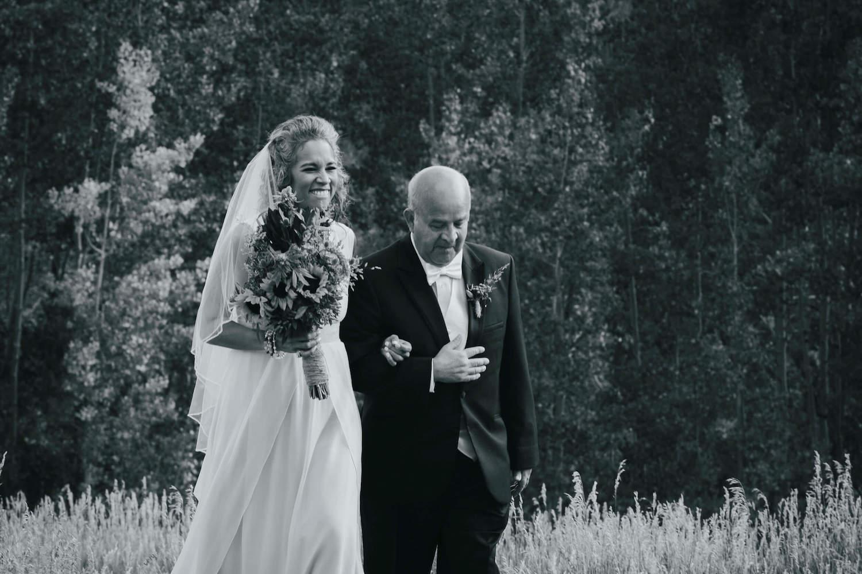hemp themed Colorado wedding alternative bride